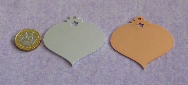 Bauble metal stamping blank - laser cut - aluminium or copper