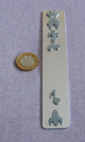Bookmark metal stamping blank - guillotine cut - aluminium, copper or brass