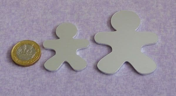 Gingerbread metal stamping blank - 2mm -  laser cut - 2 sizes available