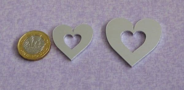 Heart washer stamping blank  - laser cut - 2mm - 2 sizes available