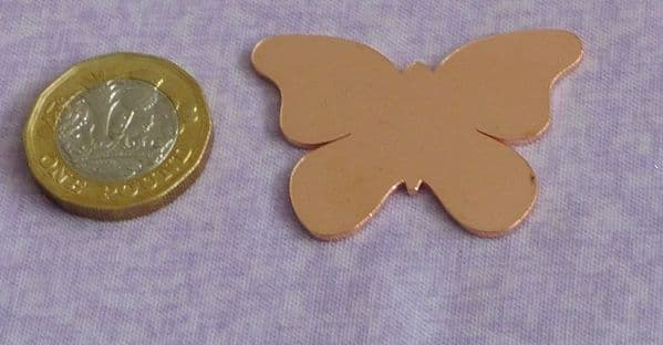 REDUCED Butterfly copper metal stamping engraving blank - 1.2mm copper - laser cut
