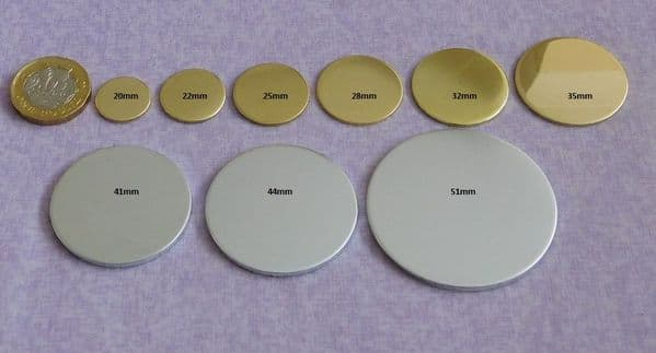 Round/disc metal stamping/engraving  blank - die cut - brass