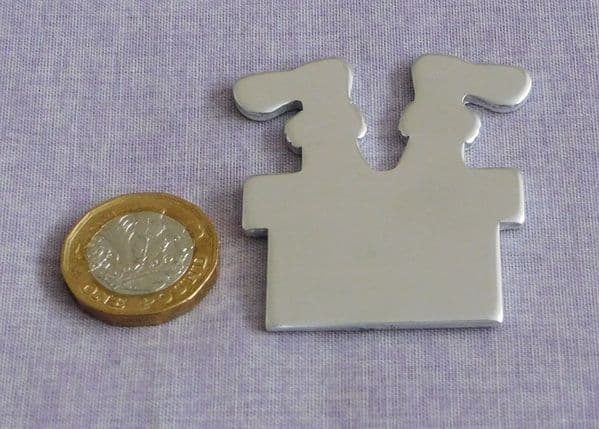 Santa/chimney legs metal stamping/engraving blank - die cut - aluminium, brass or copper