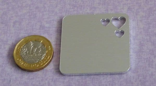 Square stamping blank with heart or star cut outs - 2mm  aluminium - laser cut