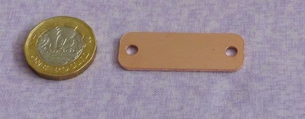 Trainer tag metal stamping blank - copper - laser cut