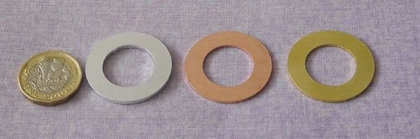 Washer metal stamping blank 32/19mm - laser cut - copper, brass or aluminium