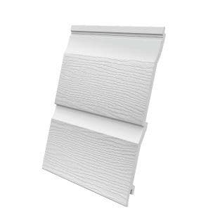 Double Plank Embossed Cladding White 333mm x 5m