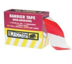 SAFETY BARRIER TAPE RED/WHITE 72mmx500mtr/Roll