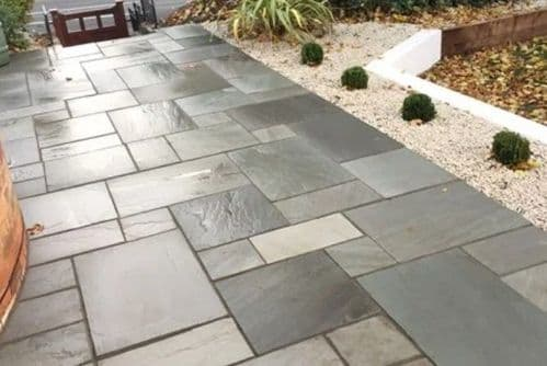 SANDSTONE SILVER GREY PAVING SLABS 22mm THICK 15.30m2/Pack