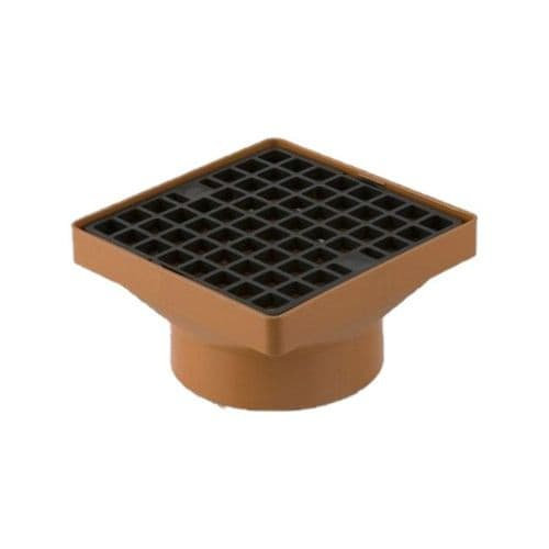 SQUARE HOPPER (160x160mm) WITH 110mm SOLVENT SOCKET