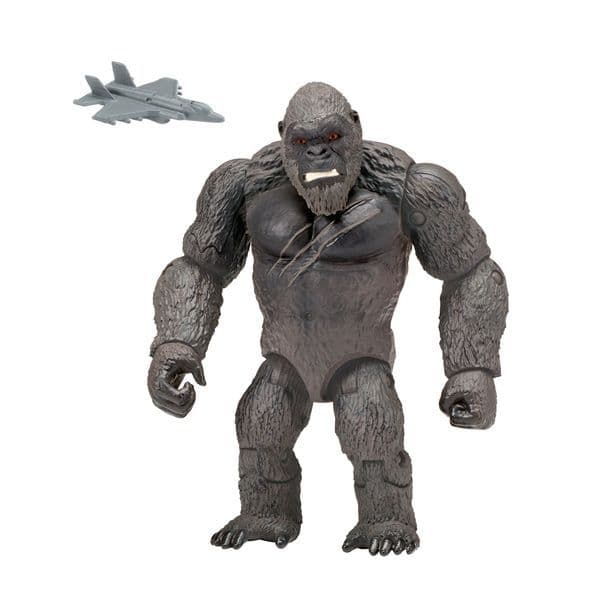 Godzilla vs Kong 15cm Kong with Fighter Jet - Monsterverse Hallow Earth Action Figure
