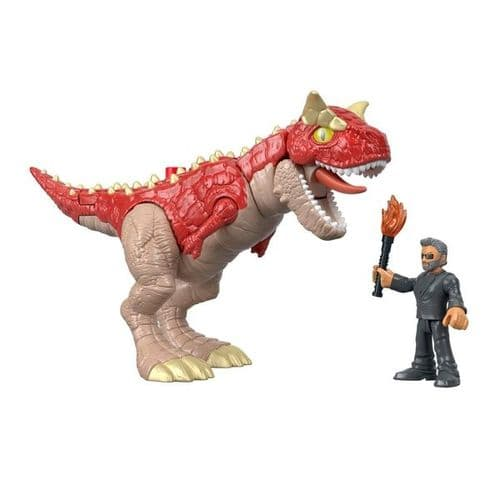Imaginext Jurassic World Carnotaurus & Dr Ian Malcolm - Action Figures