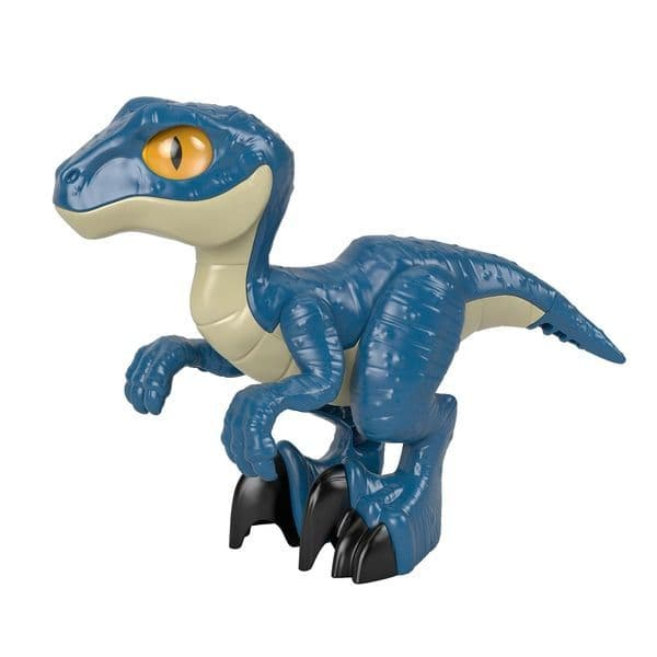 Imaginext Jurassic World Raptor Blue XL Velociraptor Dinosaur Figure