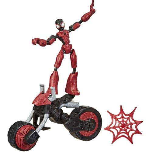 Marvel Bend and Flex - Flex Rider Spider-Man 2 in 1 Bendable Action Figure and Bike
