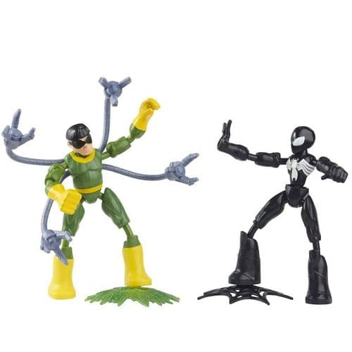 Marvel Spider-Man Bend and Flex Black Suit Spider-Man Vs. Doc Ock - Bendable Action Figure