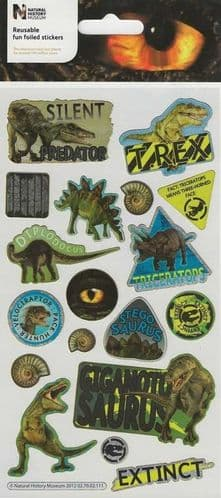 Reusable Foiled Stickers - Natural History Museum