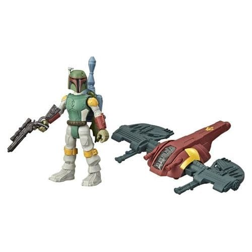 Star Wars Mission Fleet Gear Class Boba Fett Capture in the Clouds - Action Figure and Vehicle