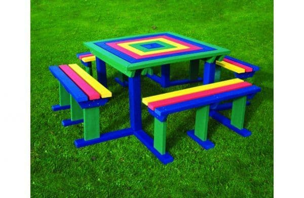 Adult Recycled Square Picnic Table