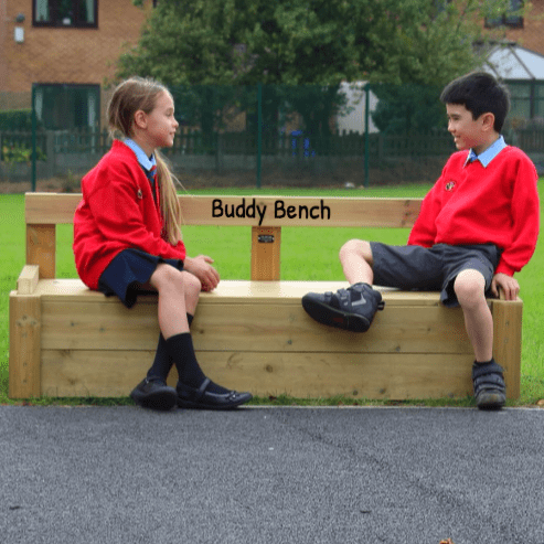 Wooden Buddy Bench