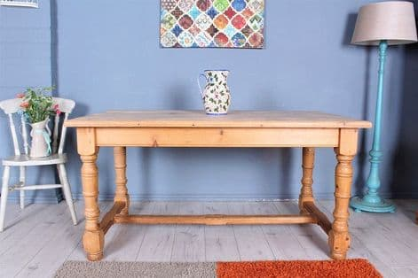 Quality Pine Farmhouse Kitchen Table | Rustic | Furniture | Sussex Pine Online
