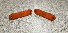 MAZDA MX5 EUNOS (MK1 1989 - 1997) PAIR REAR BUMPER REFLECTORS - ORANGE  LHS  RHS
