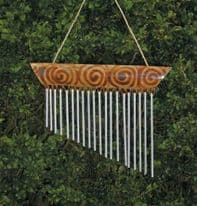 Bamboo 1 Piece Chime - Burnt Motif