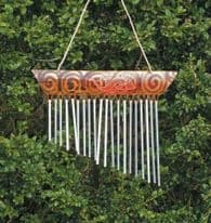 Bamboo 1 Piece Chime - Gecko Motif