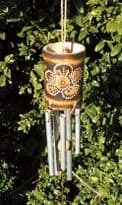 Bamboo Metal Chime - White Flower