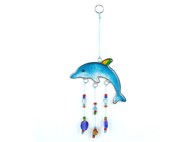 Dolphin Suncatcher with Beads