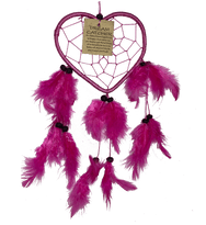 Heart Dreamcatcher with Feathers in Assorted Colours - Various Sizes