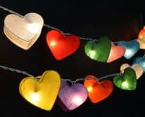 Heart Lantern Fairy Lights - Multi Coloured
