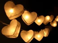 Heart Lantern Fairy Lights - White