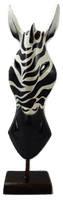 Mask on Plinth - Wild Zebra, Various Sizes