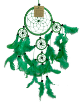 Round Dreamcatcher with Feathers in Assorted Colours - Various Sizes