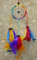 Round Rainbow Dreamcatcher with Feathers - Assorted Sizes
