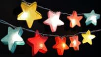 Star Lantern Fairy Lights - Multi Coloured