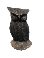 Thai Carved Owl Black