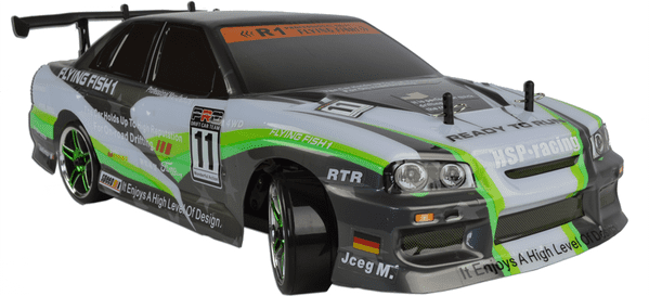 Green Nissan Skyline Electric RC Drift Car - 2.4GHz