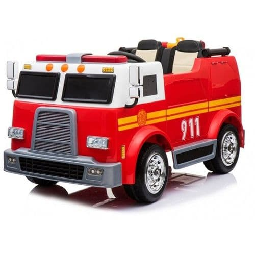 Kids - 2 Seater - 12V - Electric Ride On Fire Engine