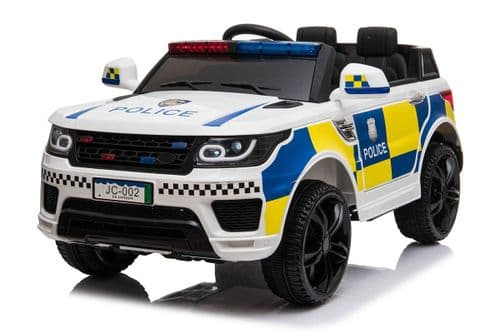 Kids Police SUV 4x4 off road 12v Electric Jeep - White