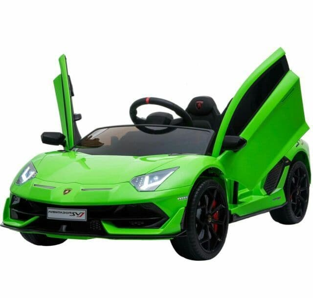 Latest Model - 2 Seater - Licensed Lamborghini SVJ 12V Children's Electric Ride On Car - Green