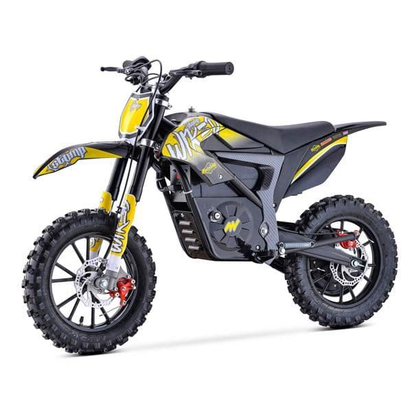 Stomp Wired - 500w 36v - Kids Electric Dirt Bike - Neon Yellow