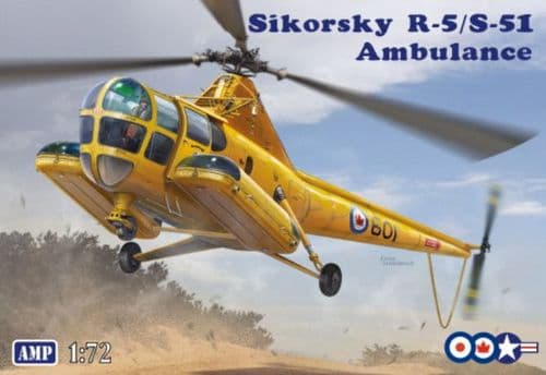 Amp 1/72 Model Kit 72012 Sikorsky R-5/S-51 Ambulance