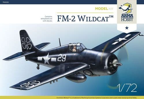 Arma Hobby 1/72 Model Kit 70033 General-Motors FM-2 Wildcat
