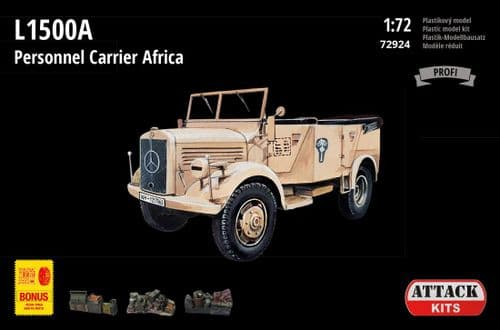 Attack 1/72 Model Kit 72924 M.B. L1500A Personnel Carrier - Africa