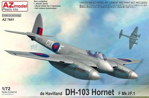 AZ Models 1/72 Model Kit 7651 de Havilland DH-103 Hornet F Mk.I