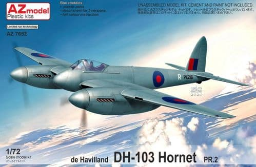 AZ Models 1/72 Model Kit 7652 de Havilland DH-103 Hornet PR Mk.2