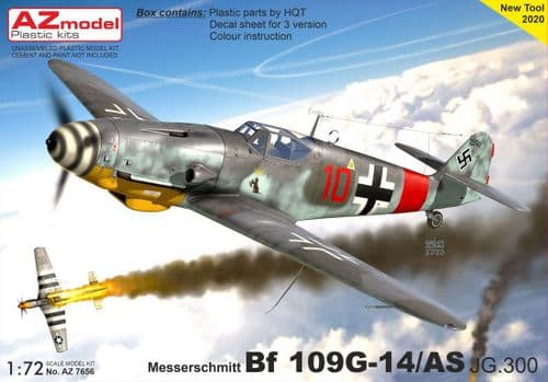 AZ Models 1/72 Model Kit 7656 Messerschmitt Bf-109G-14/AS 'JG 300'