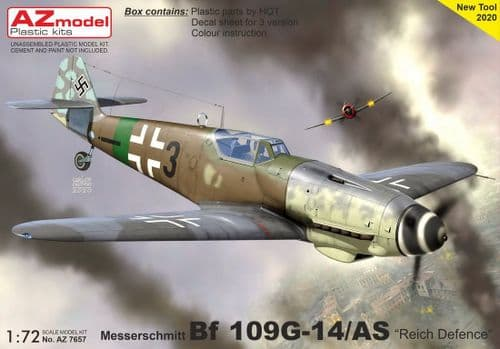 AZ Models 1/72 Model Kit 7657 Messerschmitt Bf-109G-14/AS 'Reich Defence'