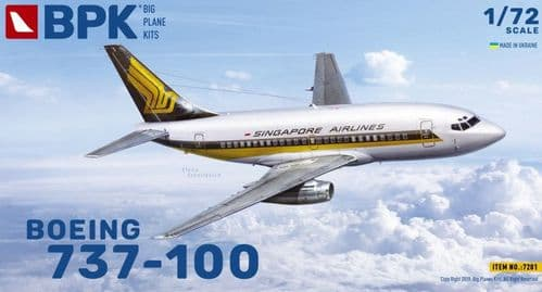 Big Planes Kits 1/72 Model Kit 7201 Boeing 737-100 Singapore Airlines